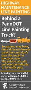 Be patient, stay back, and drive drive on wet line paint.